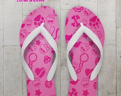 Chinelo Estampa Monster High Rosa