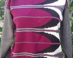 Blusa de manga comprida em l�