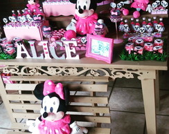 Decora��o Minnie Rosa R�stica