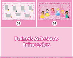 2 PAIN�IS ADESIVOS - PRINCESAS