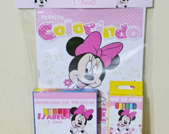 Kit colorir massinha Minnie Rosa