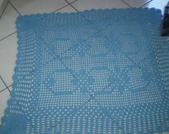 tapete de barbante quadrado azul