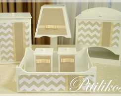 Kit Coordenado Chevron - 7 pe�as