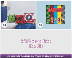 Kit Decorativo Her�is - Quadro+Almofada