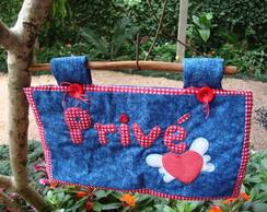 Painel em patchwork para porta
