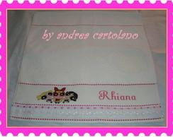 Toalha de Banho Menina Personalizada