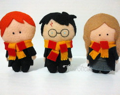 Trio de Bonecos Harry Potter