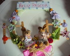 Guirlanda casal de coelhos-VENDIDA