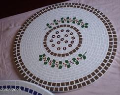 Tampo de mosaico caf�