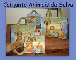 Conjunto de bolsas/malas e trocador