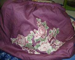 Bolsa tecido e aplica��o