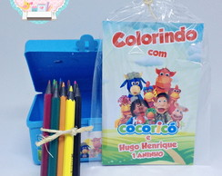 Maletinha Kit Colorir Cocoric�