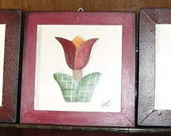 Trio de quadro pintura country
