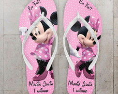 Chinelo Infantil Mickey, Minnie Rosa