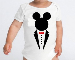 Body de beb� mickey terninho