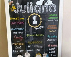 Chalkboard anivers�rio Snoopy