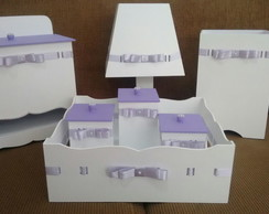 Kit Higiene Bebe 7 pe�as Lilas Fita Nome