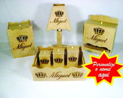 Kit higiene Beb� Nomes MDF cru - 7 pe�as