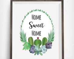 P�ster Home sweet home cactos