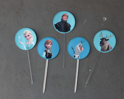 Toppers para doce/cupcake (Frozen)