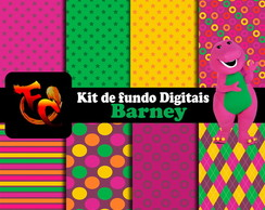 Kit de fundos Digitais - Barney