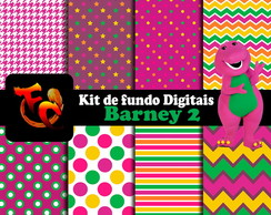 Kit de fundos Digitais - Barney 2