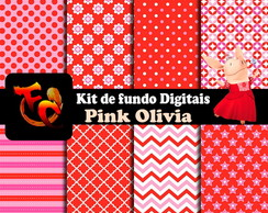 Kit de fundos Digitais - Pink Olivia