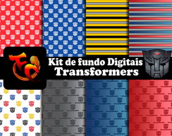 Kit de fundos Digitais - Transformers