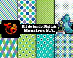 Kit de fundos Digitais - Monstros S. A.