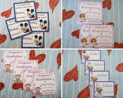 Cart�o Cards/Tags - Menino