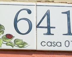 N mero para casa elo7 for Azulejo numero casa