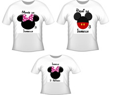 kit 3 camisetas aniversario minnie rosa