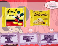 R�tulo mini Talento Mickey