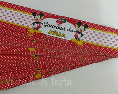 R�tulo guaran� ca�ulinha Mickey e Minnie