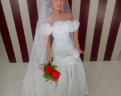 Barbie Noiva White Flower