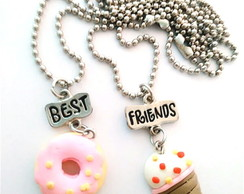 2 Colares Best Friends Sorvete e Donuts