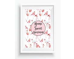 P�ster Flamingos Home Sweet Apartment