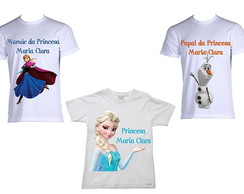 Kit de Camisetas Frozen
