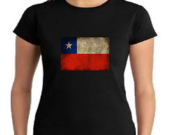 Camiseta baby look chile