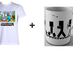 kit 1 camiseta + 1 caneca minecraft 02
