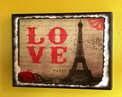 Quadro Vintage Love Paris