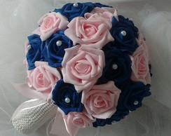 Buque - rosa com azul royal