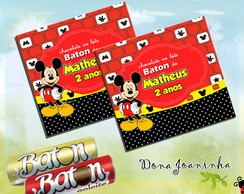 R�tulo chocolate Baton Mickey