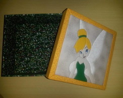 ... Caixa de MDF Princesa Tinkerbell