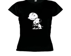 Camiseta baby look snoopy