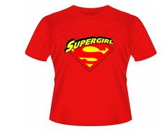 Camiseta baby look supergirl