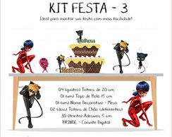 Kit Festa 3 - Miraculous Ladybag