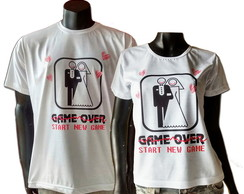 Camisetas Noiva+Noivo Game Over/New Game