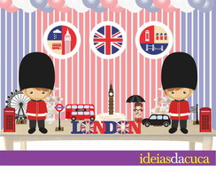 Kit Festa Decora��o Completa Londres