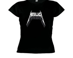 Camiseta baby look metallica